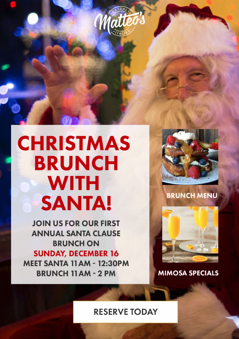 Christmas brunch with santa at Matteo's olmsted falls
